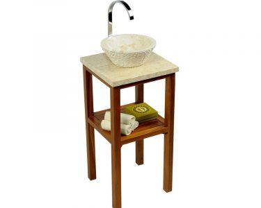 Outdoor Waschbecken Wohnzimmer Teak Holz Waschtisch Smini Inkl Marmorplatte Creme 40x40x80cm Waschbecken Küche Outdoor Edelstahl Bad Kaufen Badezimmer Keramik