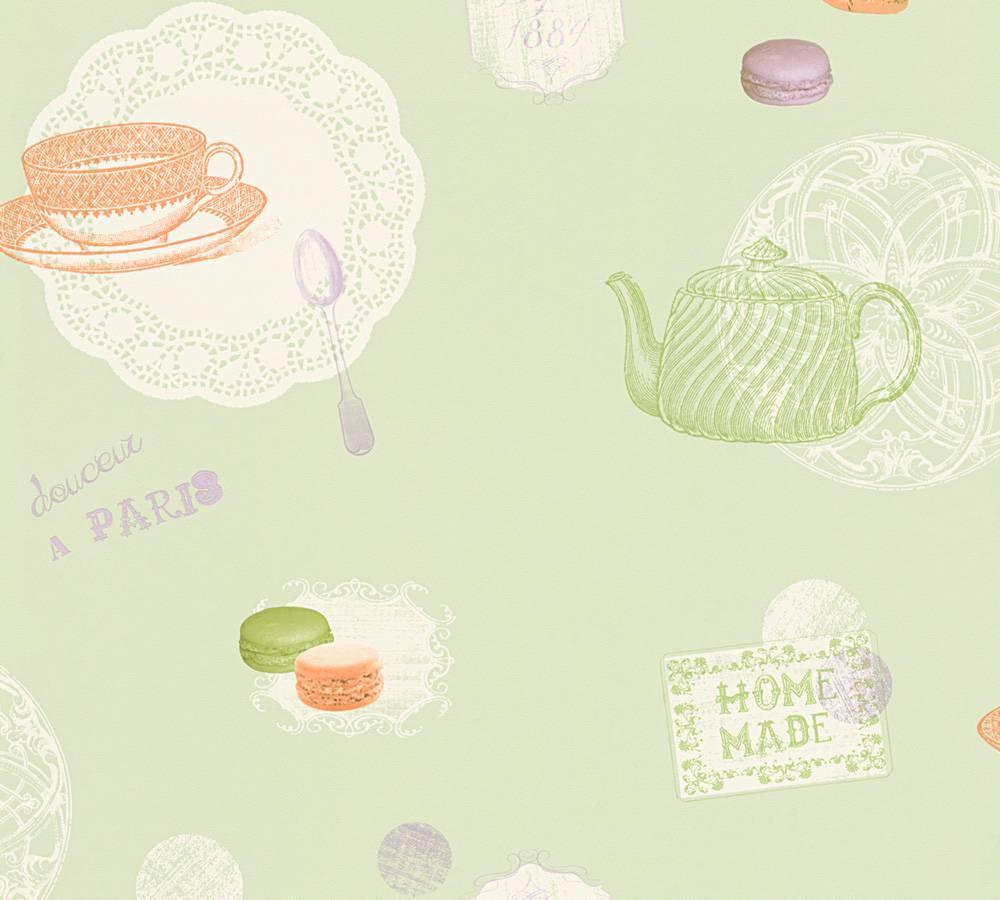Full Size of Küchentapete Kchentapete Macarons Grn Wei As Creation 32730 1 Wohnzimmer Küchentapete
