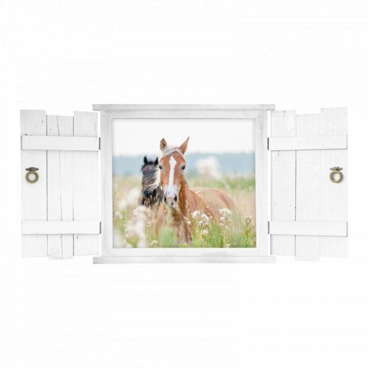 Medium Size of Mit Fenster Pferd Wandtattoo 132 Nikima Fensterlden Im Kinderzimmer Regal Regale Weiß Sofa Kinderzimmer Kinderzimmer Pferd