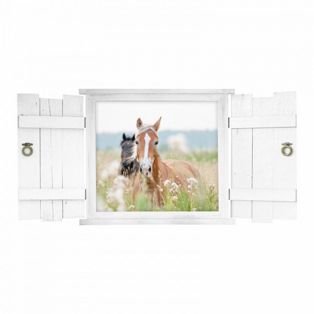 Full Size of Mit Fenster Pferd Wandtattoo 132 Nikima Fensterlden Im Kinderzimmer Regal Regale Weiß Sofa Kinderzimmer Kinderzimmer Pferd