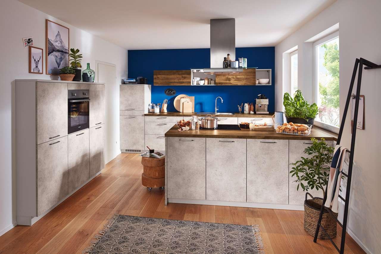 Full Size of Küche Betonoptik Holz Möbelgriffe Einbauküche Gebraucht Aufbewahrung Ohne Elektrogeräte Massivholz Regal Led Deckenleuchte Vorhang Gardinen Wasserhahn Mit Wohnzimmer Küche Betonoptik Holz