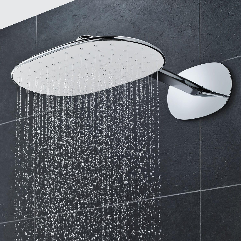 Full Size of Rainshower Dusche Wandmontierter Duschkopf Oval Regenstrahl Bodengleiche Duschen Glastrennwand Einbauen Eckeinstieg Begehbare 80x80 Ebenerdige Kosten Anal Dusche Rainshower Dusche