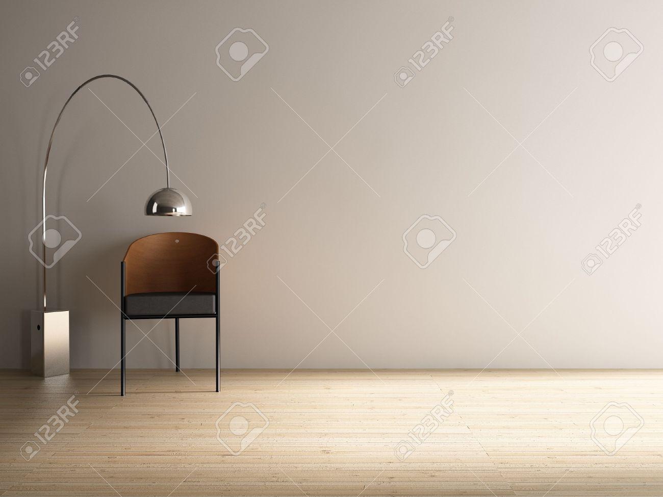 Full Size of Stuhl Mit Stehlampe Zu Angesicht Eine Leere Weie Wand Wohnzimmer Esstische Küche Holz Esstisch Schlafzimmer Bett Tapete Stehlampen Wohnzimmer Stehlampe Modern