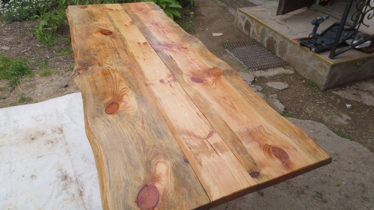 Full Size of Rustikaler Tisch Aus Altmaterial Youtube Esstisch Betonplatte Ausziehbarer Glas Rustikal Kaufen Pendelleuchte Holz Massiv Shabby Chic Quadratisch Esstische Rustikaler Esstisch