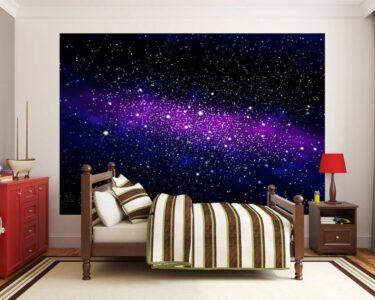 Sternenhimmel Kinderzimmer Kinderzimmer Sternenhimmel Kinderzimmer Fototapete Galaxy Regal Regale Weiß Sofa