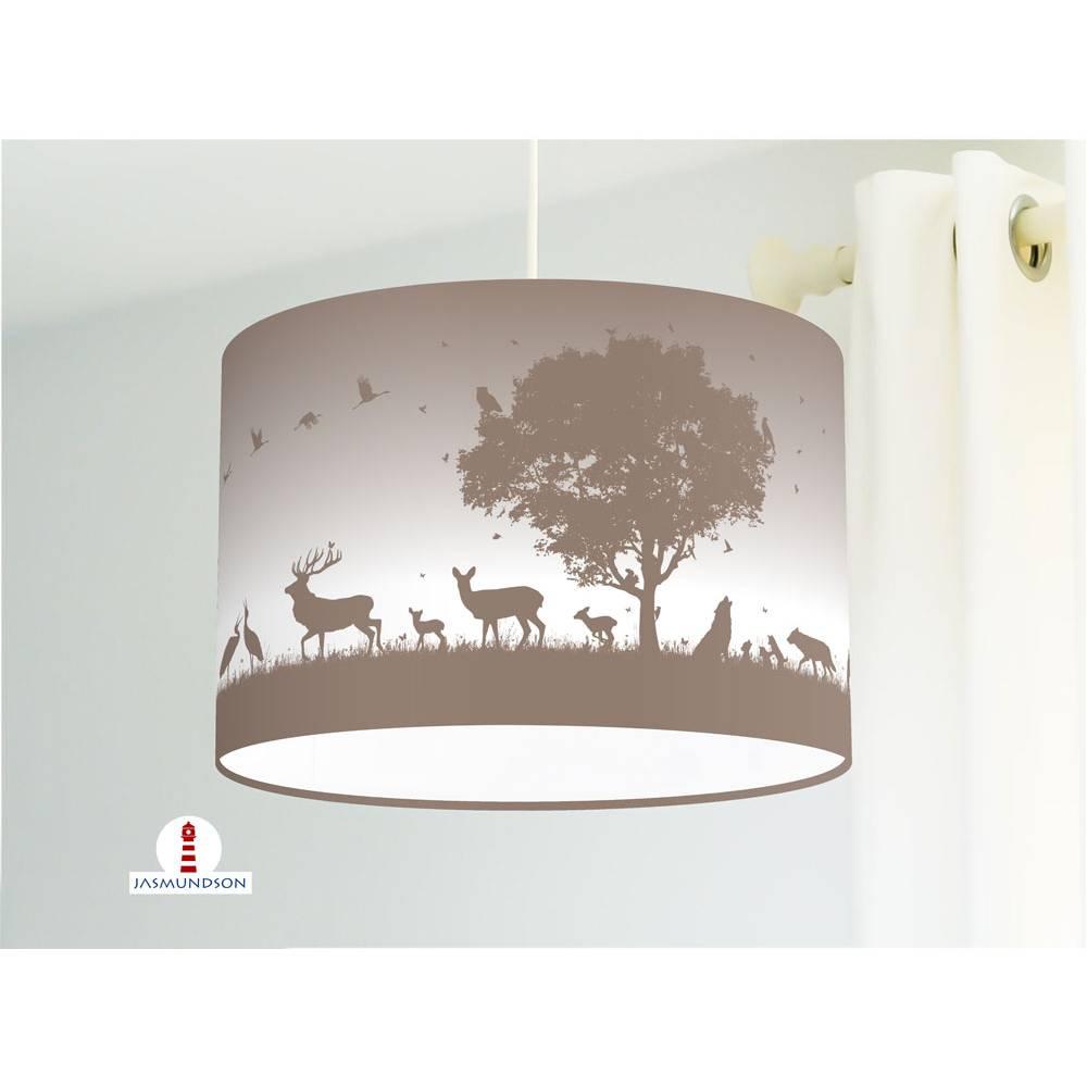 Full Size of Lampe Kinderzimmer Wald Tiere In Graubraun Aus Regale Regal Weiß Wohnzimmer Stehlampe Stehlampen Sofa Schlafzimmer Kinderzimmer Stehlampe Kinderzimmer