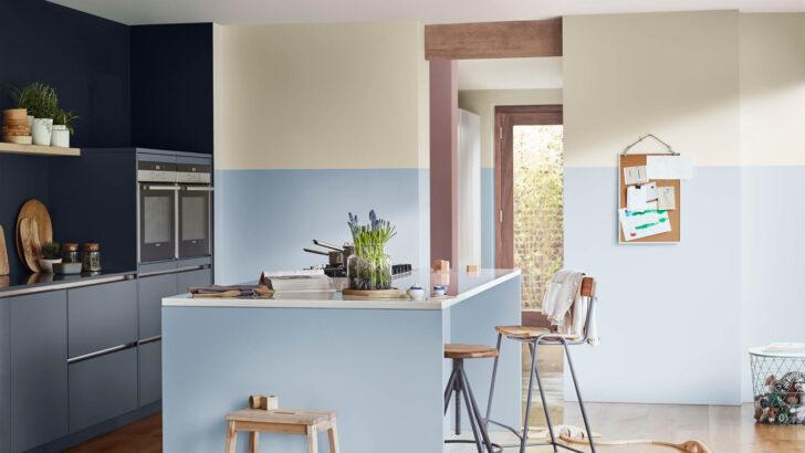 Wandfarbe Küche Vier Mglichkeiten Spritzschutz Plexiglas Einbauküche Weiss Hochglanz Tapeten Für Die Glaswand Vorratsschrank Schwarze Müllschrank Stehhilfe Wohnzimmer Wandfarbe Küche