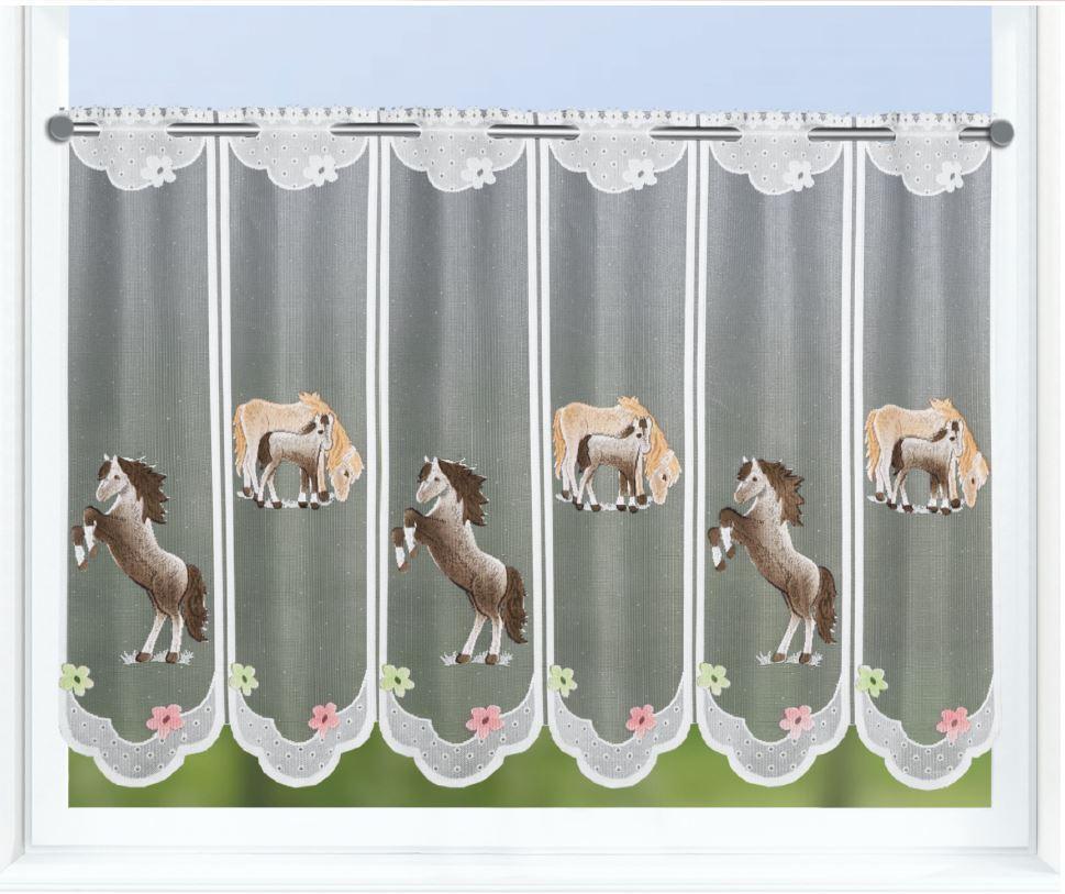 Full Size of Scheibengardinen Kinderzimmer Scheibengardine Pferd Und Fohlen Bxh 150x60cm Clever Kauf 24de Regal Regale Sofa Küche Weiß Kinderzimmer Scheibengardinen Kinderzimmer