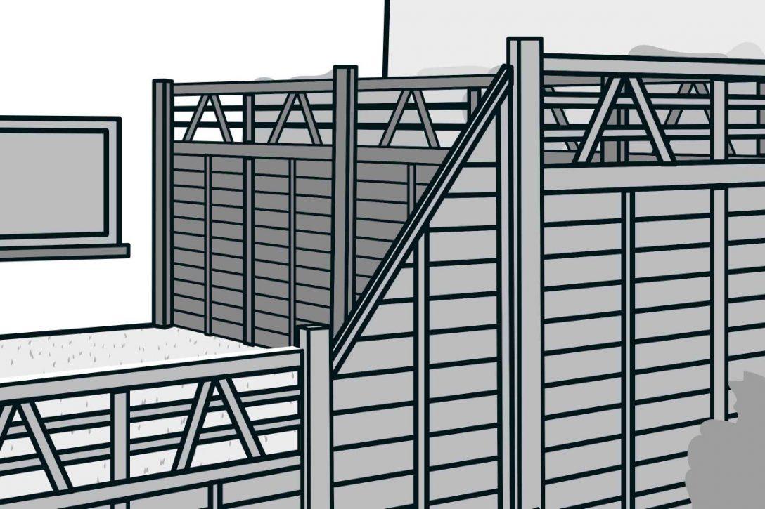 Large Size of Hornbach Sichtschutz Bauen Aus Fertigelementen Anleitung Von Fenster Sichtschutzfolien Für Sichtschutzfolie Im Garten Wpc Holz Einseitig Durchsichtig Wohnzimmer Hornbach Sichtschutz
