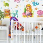 Wandtattoo Für Kinderzimmer Meerjungfrau Unterwasserwelt Set In 2020 Gardinen Schlafzimmer Küche Sichtschutz Fenster Regal Insektenschutz Deckenlampen Kinderzimmer Wandtattoo Für Kinderzimmer