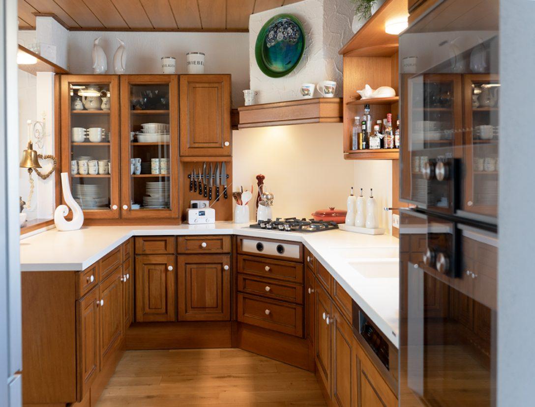Large Size of Holzküchen Kundenkche Illingen Modernisierung Einer Einzigartigen Holzkche Wohnzimmer Holzküchen