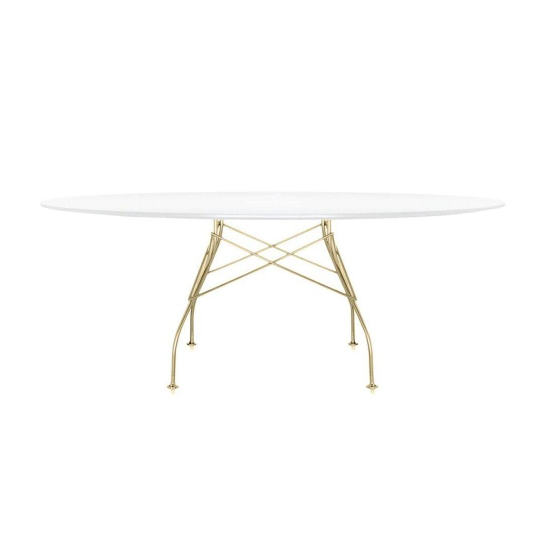 Large Size of Kartell Glossy Tisch Oval Gestell Gold Ambientedirect Esstische Massivholz Ausziehbarer Esstisch Bad Hängeschrank Weiß Hochglanz Eiche Weiße Küche Massiv Esstische Esstisch Oval Weiß