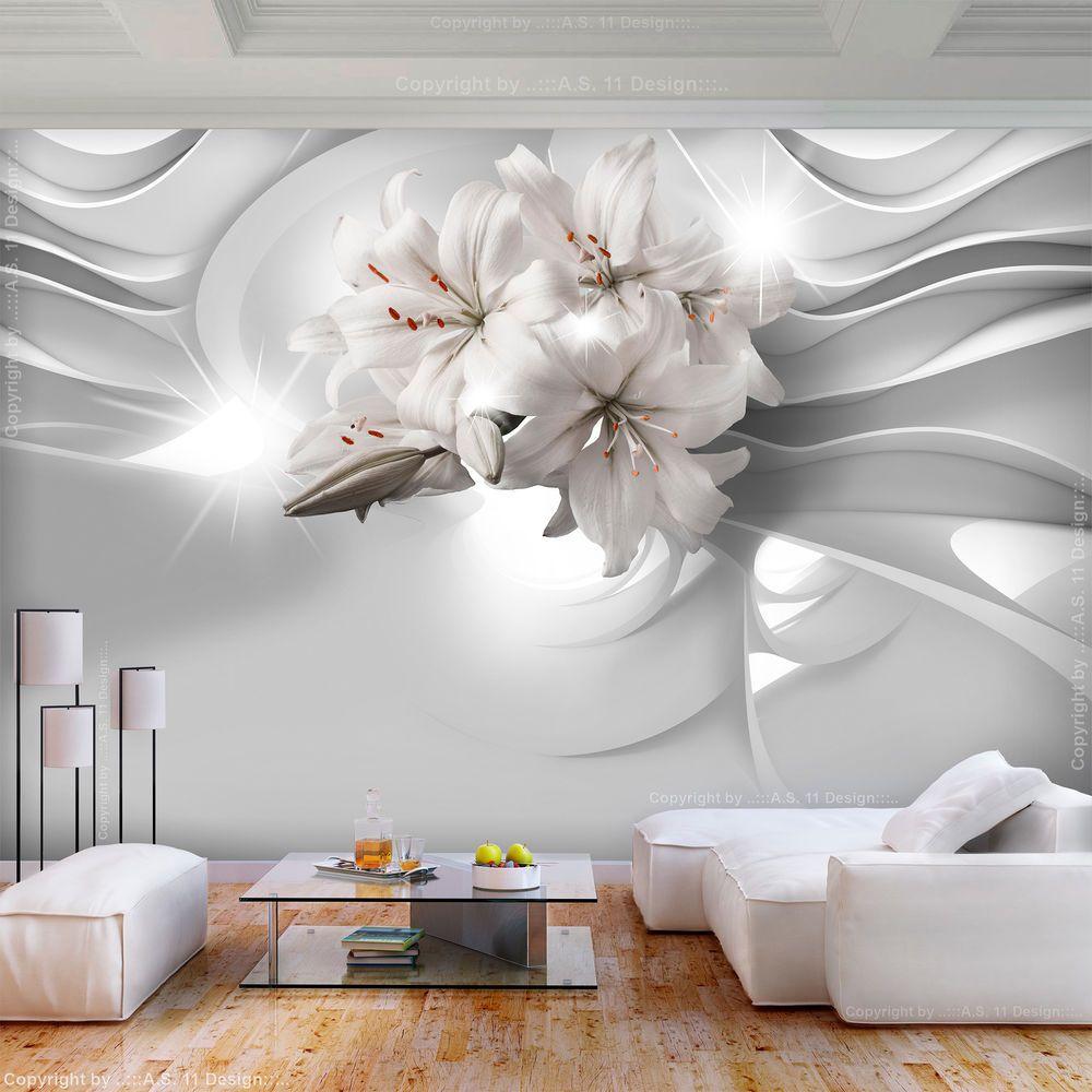 Full Size of Tapeten Wohnzimmer Details Zu Vlies Fototapete Blumen Lilie Grau Abstrakt Diamant Teppich Stehlampe Gardinen Sessel Vorhänge Poster Deckenleuchten Beleuchtung Wohnzimmer Tapeten Wohnzimmer