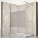 Begehbare Dusche Ohne Tür Dusche Duschwand Heidi Streifen Satiniert Ansehen Unterputz Armatur Dusche Schiebetür Eckeinstieg Begehbare Duschen 90x90 Glasabtrennung Ohne Tür Bodengleiche