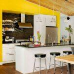 Wandfarbe Küche Wohnzimmer Wandfarbe Küche Fr Kche 55 Farbideen Und Beispiele Farbgestaltung Aufbewahrungssystem Modulküche Holz Hängeschrank Höhe Glasbilder Alno Raffrollo Outdoor