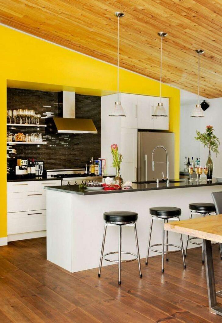 Medium Size of Wandfarbe Küche Fr Kche 55 Farbideen Und Beispiele Farbgestaltung Aufbewahrungssystem Modulküche Holz Hängeschrank Höhe Glasbilder Alno Raffrollo Outdoor Wohnzimmer Wandfarbe Küche