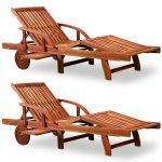 Gartenliege Klappbar Sonnenliege Tami Sun 2er Set Akazien Holz Verstellbar Ausziehbarer Ausklappbares Bett Ausklappbar Wohnzimmer Gartenliege Klappbar