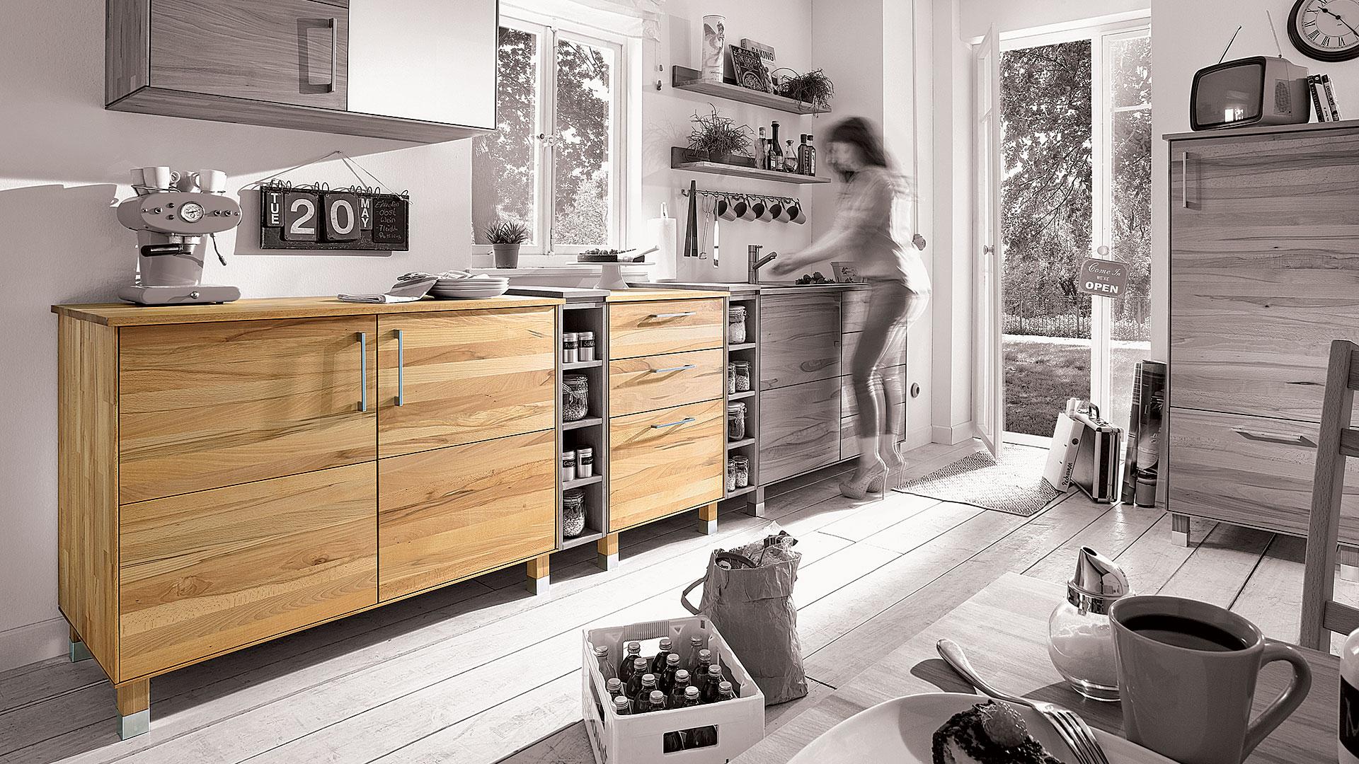 Full Size of Kchenunterschrank Culinara 100 Massivholz Wohnzimmer Küchenunterschrank