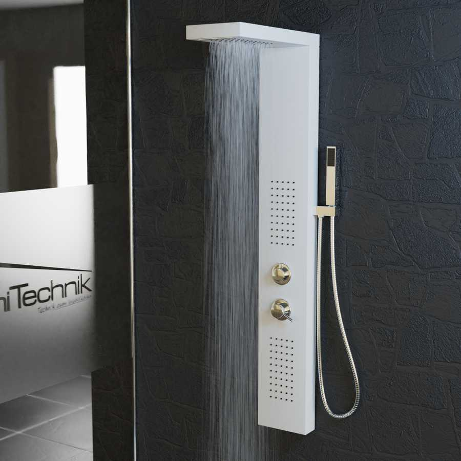 Full Size of Duschsäulen Duschpaneel Poseidon Aluminium Wei Tronitechnik Dusche Duschsäulen