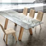 Esstisch Glas Ausziehbar Moderner Tisch Aus Und Massivholz Florida Designer Lampen Klein Buche Glaswand Dusche Nussbaum Set Günstig 160 Hängeschrank Küche Esstische Esstisch Glas Ausziehbar