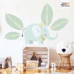 Wandsticker Kinderzimmer Junge Kinderzimmer Wandsticker Kinderzimmer Junge Jungen Wandtattoo Elefant Dekoration Küche Sofa Regal Weiß Regale