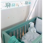 Bordüren Kinderzimmer Kinderzimmer Bordüren Kinderzimmer Dinki Balloon Bordre Elefanten Mint Beige Jade Sofa Regal Weiß Regale