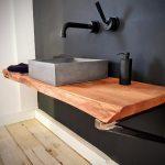 Outdoor Waschbecken Wohnzimmer Outdoor Waschbecken Beton 4040 Mit Brett Aus Massivholz Küche Edelstahl Badezimmer Bad Kaufen Keramik