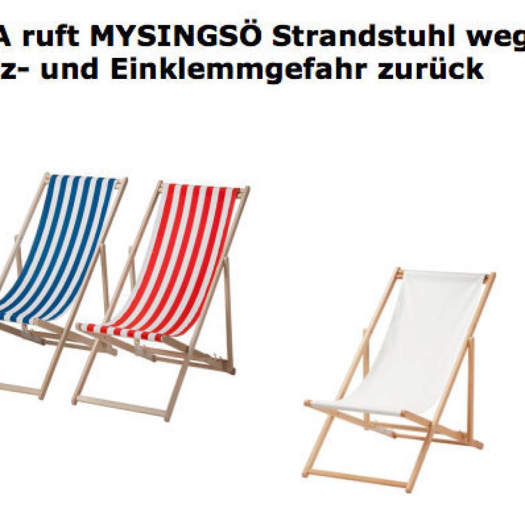 Full Size of Ikea Liegestuhl Strandstuhl Wegen Verletzungsgefahr Zurckgerufen Welt Küche Kosten Betten 160x200 Garten Sofa Mit Schlaffunktion Kaufen Bei Miniküche Wohnzimmer Ikea Liegestuhl