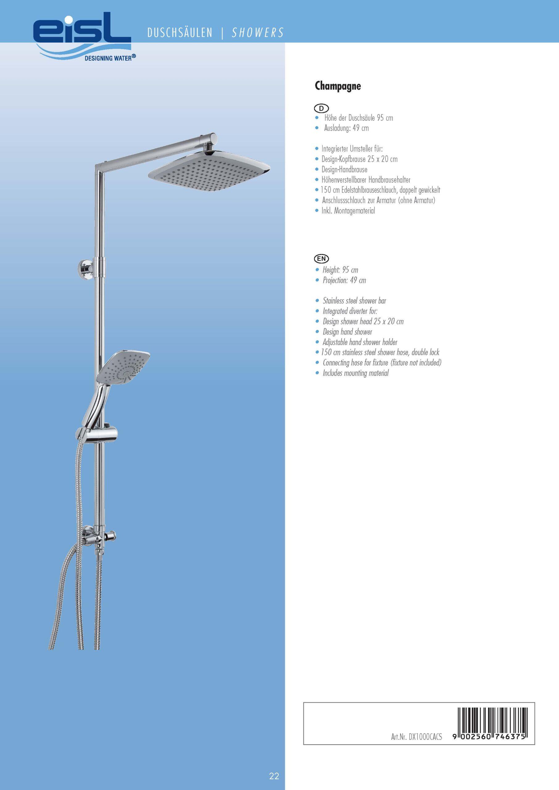 Full Size of Eisl Designing Water Katalog Duschsulen Duschsäulen Dusche Duschsäulen