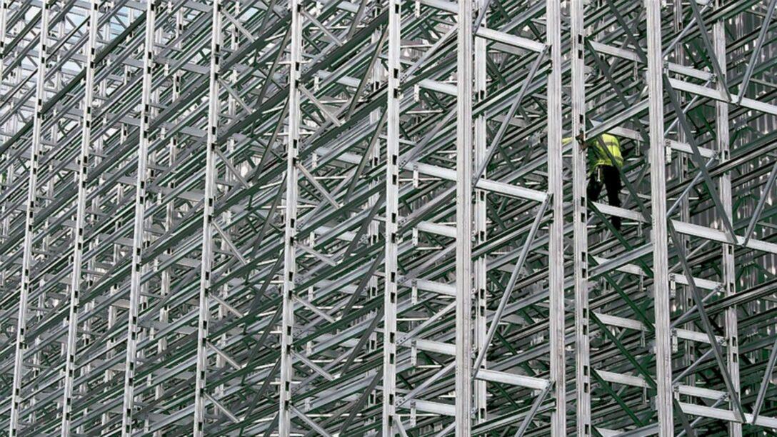 Large Size of Tiefes Regal Fachfirma Baut 180 Tonnen Schweres Hochregal Fr Stauff Neuenrade Regale Für Dachschrägen Stecksystem Kleines Mit Schubladen Berlin Flexa Eiche Regal Tiefes Regal