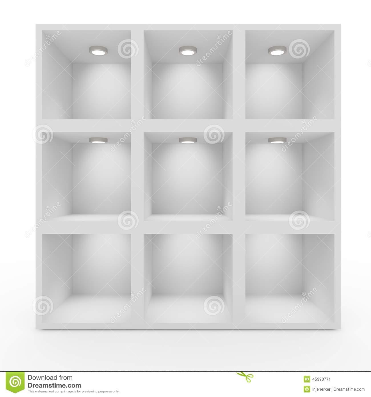 Full Size of Leere Weie Regale Mit Beleuchtung Stock Abbildung Illustration Metall Weißes Regal Gebrauchte Kaufen Bett 90x200 Günstig Weiße Betten Keller Meta Obi Regal Weiße Regale