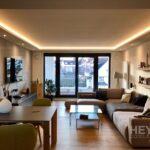 Schöne Wohnzimmer Betonoptik Mit Schalungsfuge Von Hand Erstellt Meinmaler Partner Großes Bild Lampen Vinylboden Vorhänge Deckenlampen Modern Landhausstil Wohnzimmer Schöne Wohnzimmer