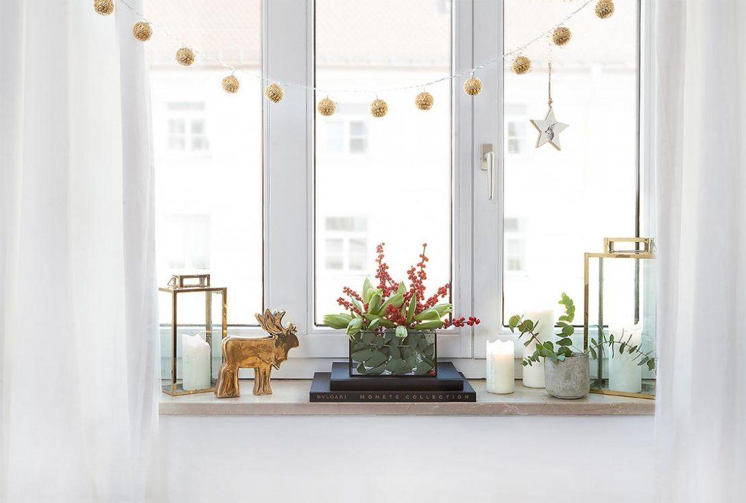 Large Size of Deko Fensterbank Kreative Weihnachtsdeko Frs Fensterbrett Im Westwing Magazin Wohnzimmer Dekoration Für Küche Wanddeko Badezimmer Schlafzimmer Wohnzimmer Deko Fensterbank
