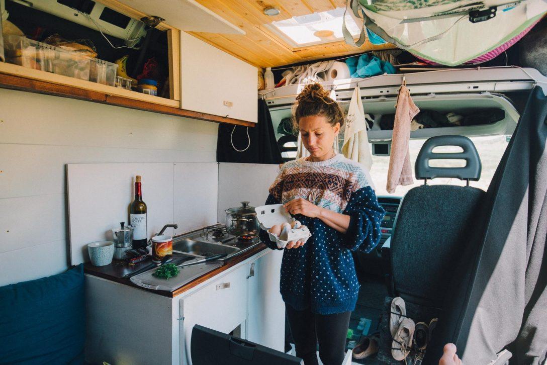 Large Size of Küche Diy Bauanleitung Indoor Camper Kche Mein Camperausbau Polsterbank Apothekerschrank Nobilia Einrichten Günstig Kaufen Grifflose Griffe Edelstahlküche Wohnzimmer Küche Diy