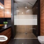 Aufkleber Glasdekor Dusche Sichtschutz 650 Streifen 50cm Hoch Moderne Duschen Bodengleich Siphon Eckeinstieg Schulte Werksverkauf Glaswand Bodengleiche Fliesen Dusche Glastür Dusche