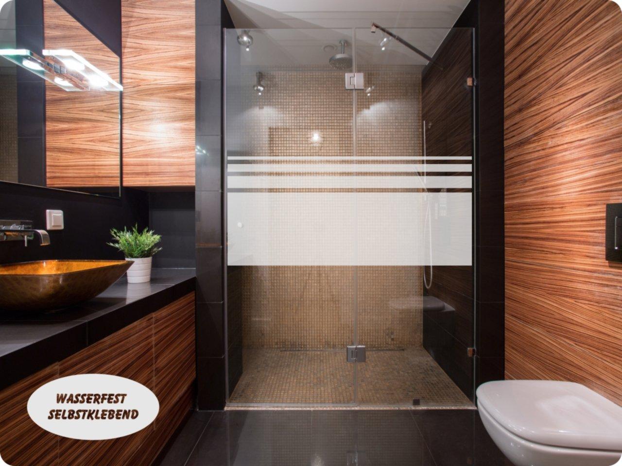Full Size of Aufkleber Glasdekor Dusche Sichtschutz 650 Streifen 50cm Hoch Moderne Duschen Bodengleich Siphon Eckeinstieg Schulte Werksverkauf Glaswand Bodengleiche Fliesen Dusche Glastür Dusche