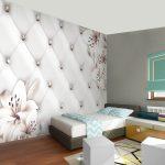 Tapeten Ideen Vlies Fototapeten 3d Effekt Leder Blumen Tapete Schlafzimmer Wohnzimmer Für Küche Bad Renovieren Die Wohnzimmer Tapeten Ideen