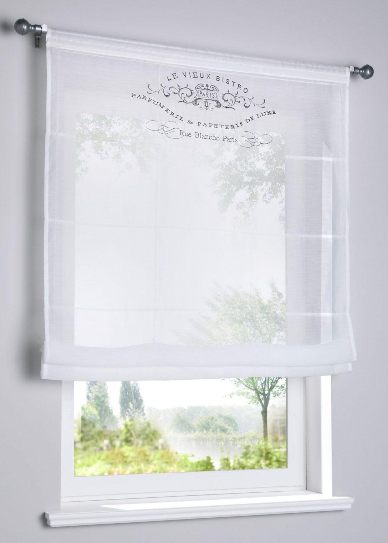 Large Size of Transparentes Raffrollo Mit Stickerei In 2020 Gardinen Küche Schlafzimmer Für Bonprix Betten Wohnzimmer Die Fenster Scheibengardinen Wohnzimmer Bonprix Gardinen