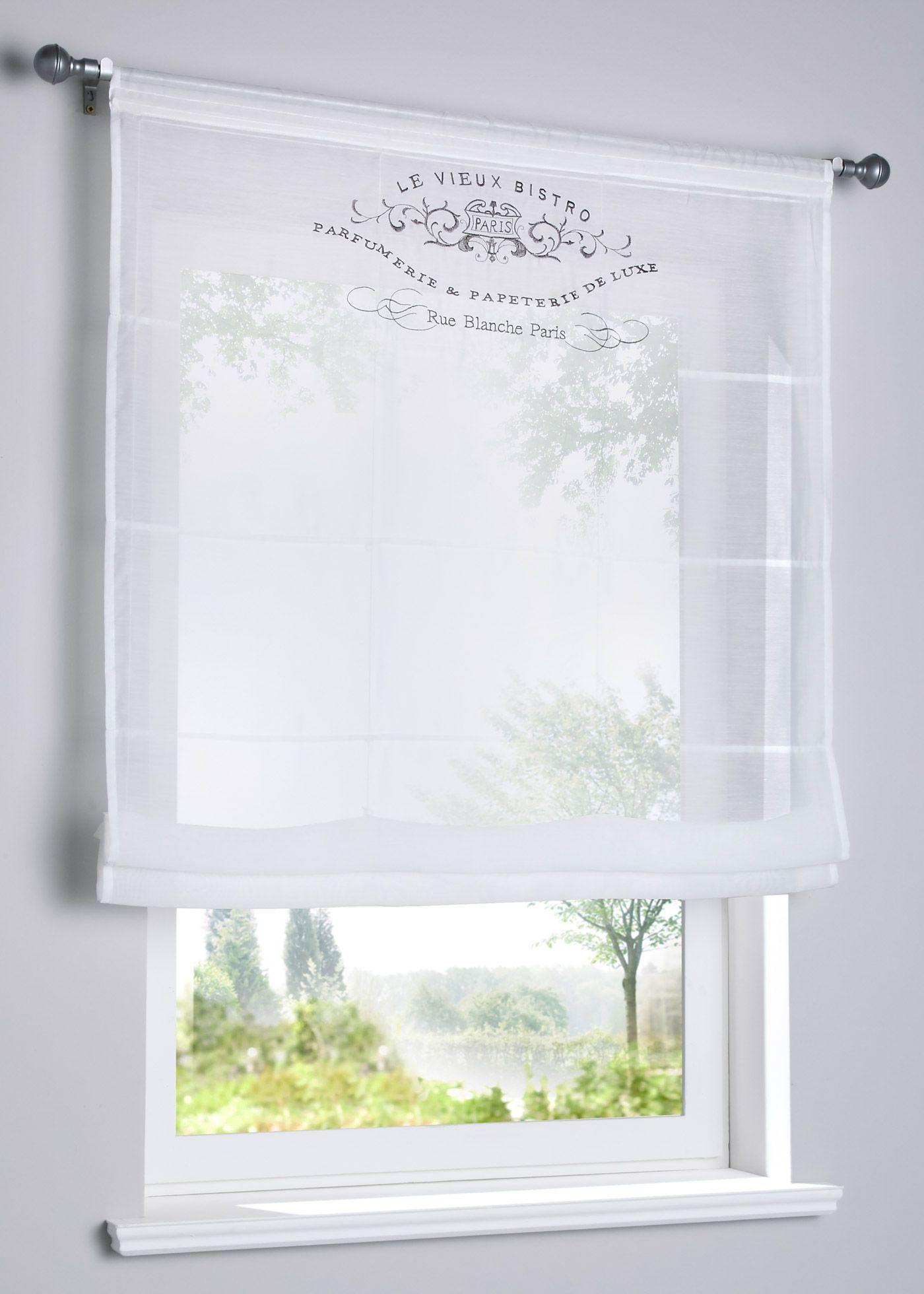 Full Size of Transparentes Raffrollo Mit Stickerei In 2020 Gardinen Küche Schlafzimmer Für Bonprix Betten Wohnzimmer Die Fenster Scheibengardinen Wohnzimmer Bonprix Gardinen
