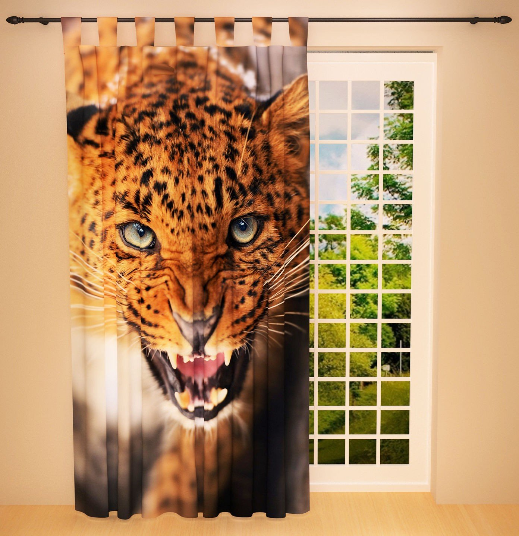 Full Size of Foto Schlaufenschal Vorhang Gardine Kinderzimmer Leopard Regale Regal Weiß Sofa Kinderzimmer Schlaufenschal Kinderzimmer