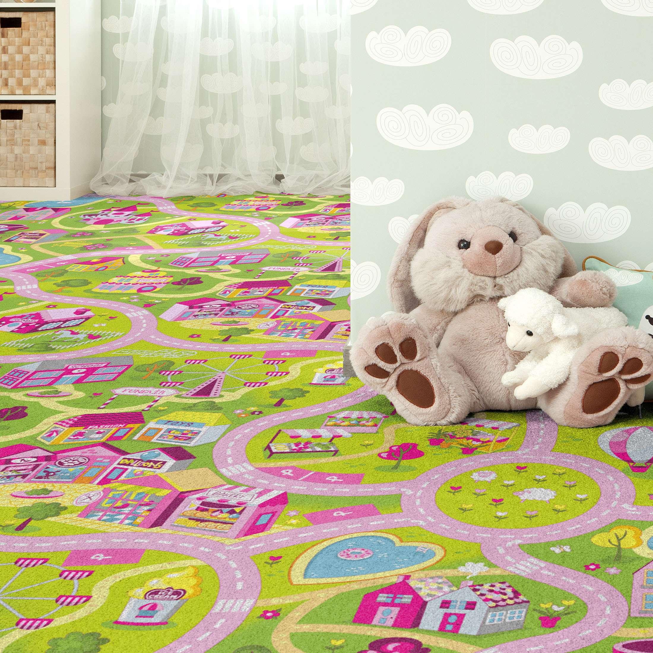 Full Size of Candy Town Kinderzimmer Teppichboden Von Kibek In Multicolor Regal Regale Sofa Weiß Kinderzimmer Teppichboden Kinderzimmer