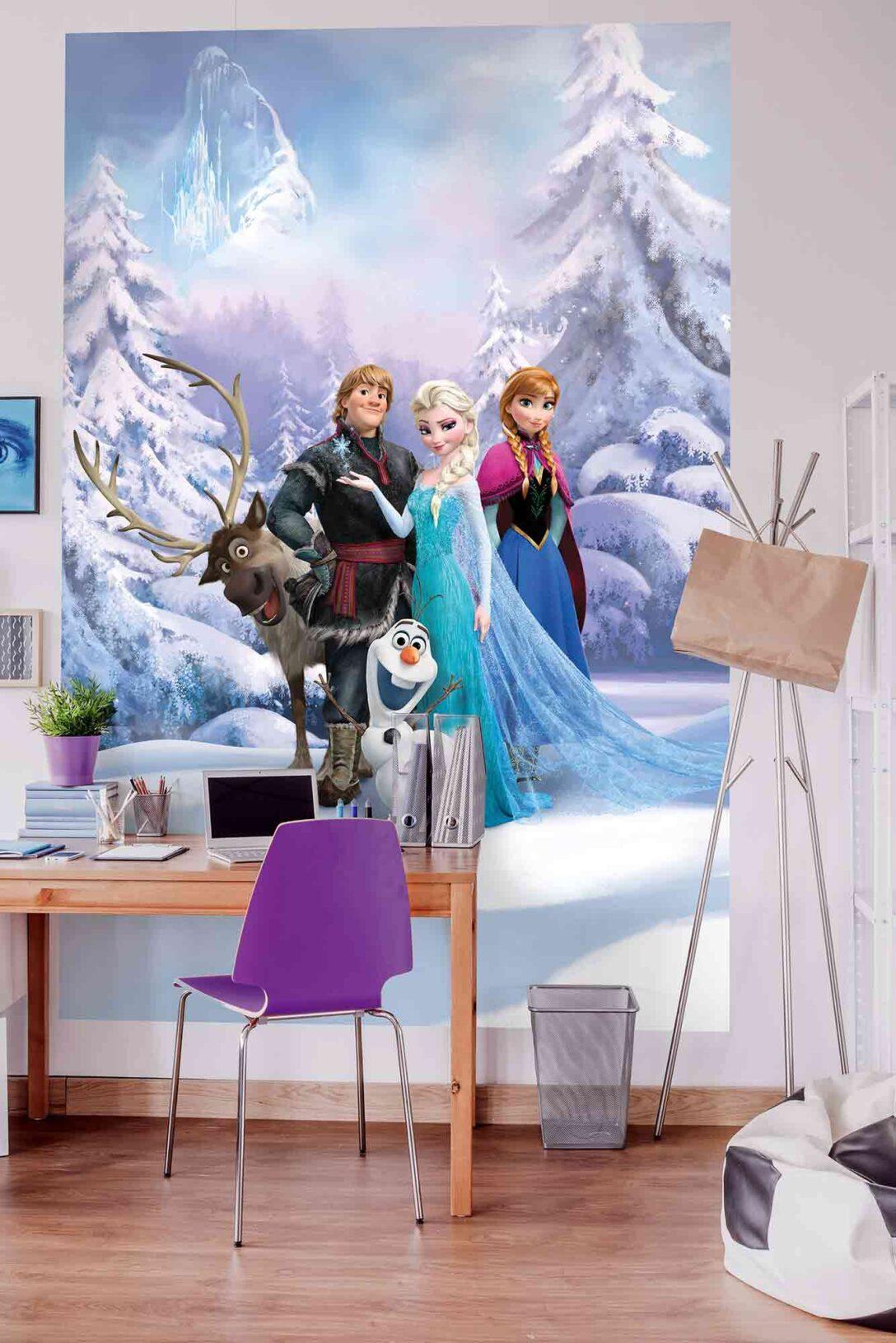 Large Size of Tapeten Für Kinderzimmer Disney Elsa Frozen Forest Winter Land Fototapete Kindertapeten Wasserhahn Küche Schlafzimmer Kopfteile Betten Deko Stuhl Regale Kinderzimmer Tapeten Für Kinderzimmer