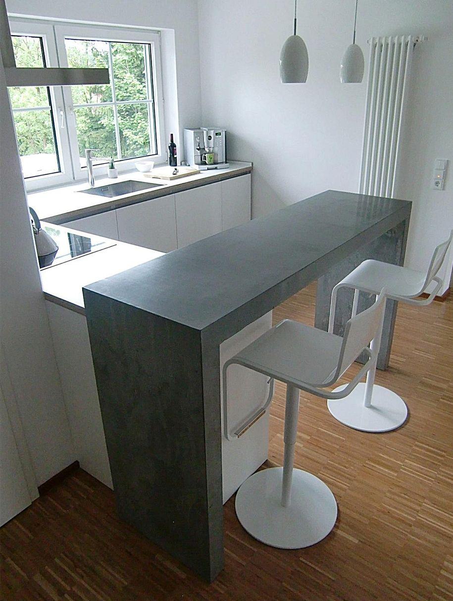 Full Size of Kchen Theke Beton Jrg Sander Planc Kche Mit Wohnzimmer Küchentheke