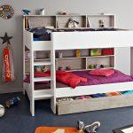Kinderbett Mädchen Wohnzimmer Etagenbett Hochbett Tomke 208x164x132cm Wei Grau Fr Jungen Mädchen Betten Bett