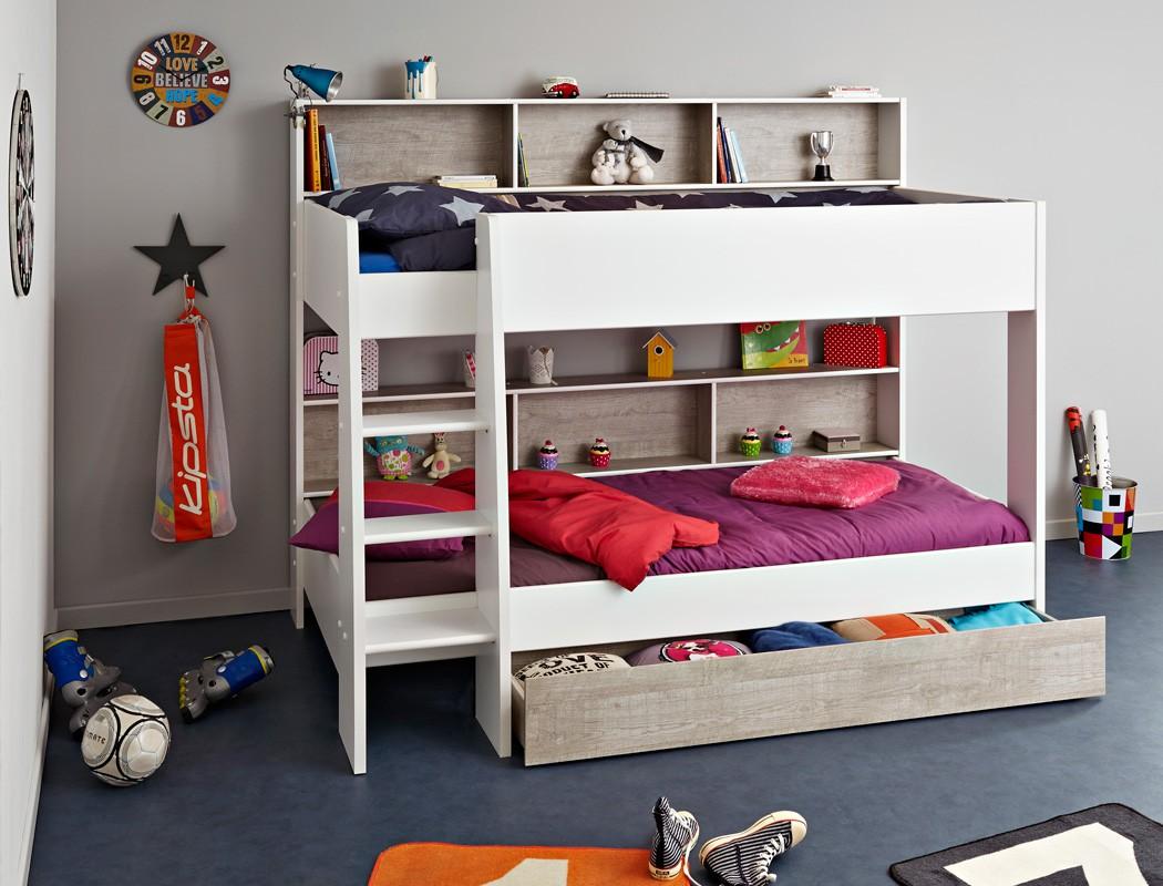 Full Size of Etagenbett Hochbett Tomke 208x164x132cm Wei Grau Fr Jungen Mädchen Betten Bett Wohnzimmer Kinderbett Mädchen