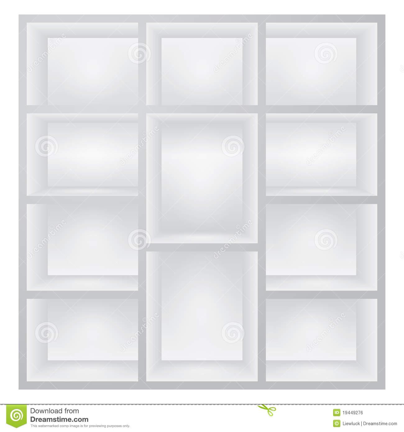 Full Size of Weiße Regale Weie Vektor Abbildung Illustration Von Kasten 19449276 String Gebrauchte Kleine Weißes Sofa Bett 160x200 Schlafzimmer Holz Regal Metall Betten Regal Weiße Regale