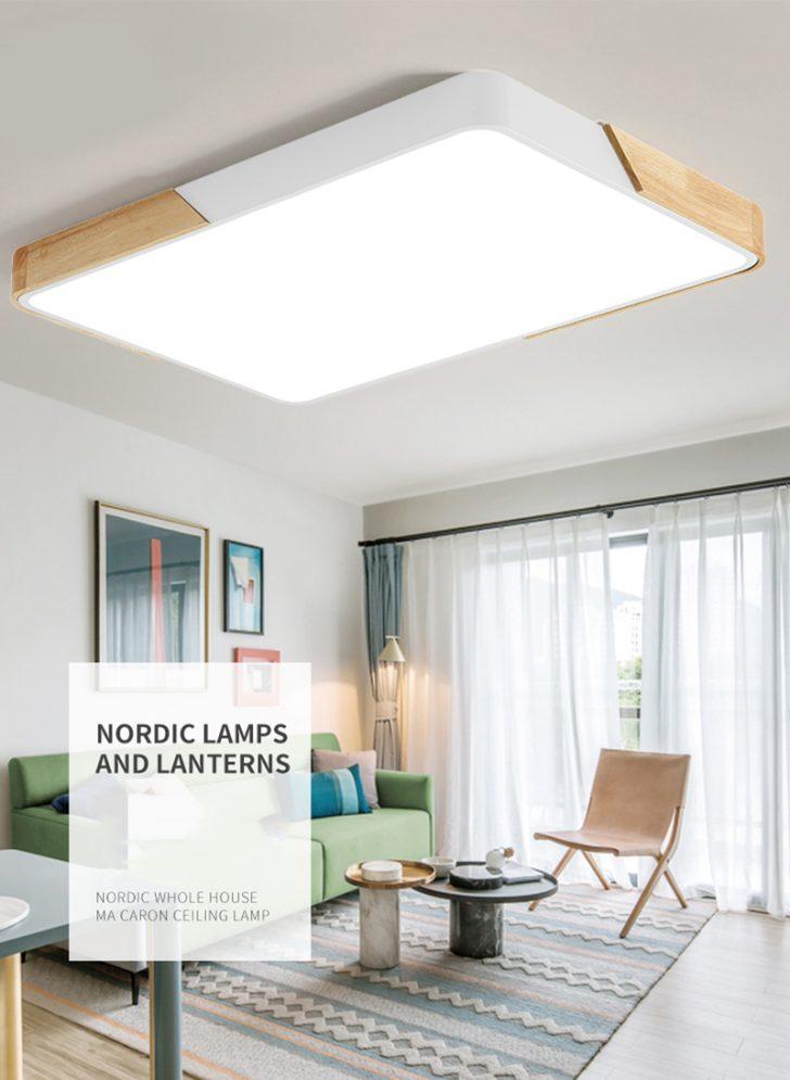 Medium Size of 80w Led Deckenleuchte Rechteckig Deckenlampe Dimmbar Mit Schrankwand Wohnzimmer Deckenlampen Modern Hängelampe Teppich Für Moderne Lampen Deckenleuchten Wohnzimmer Wohnzimmer Deckenlampe