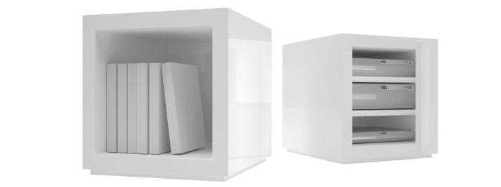 Medium Size of Weiß Hochglanz Regal Regalsystem Lectulus Quadratische Design Wrfel Von Wand Tiefes Blu Ray Für Kleidung Bett 90x200 Mit Schubladen Esstisch Oval Cd Weißes Regal Weiß Hochglanz Regal