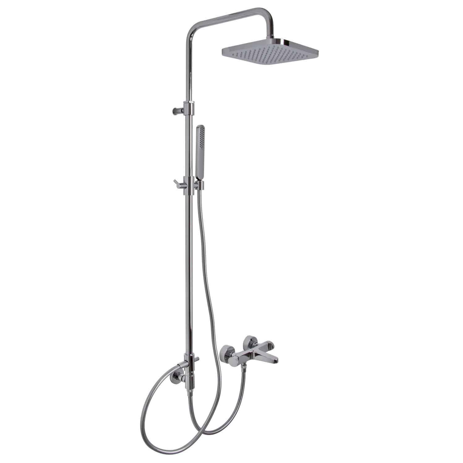 Full Size of Wandmontiertes Duschsystem Modern Mit Handbrause Duschsäulen Dusche Duschsäulen