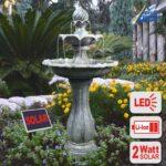 Gartenbrunnen Solar Wohnzimmer Gartenbrunnen Brunnen Solar Zierbrunnen Vogelbad